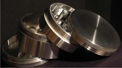 Large Space Case Aerospace Aluminum Grinder Pollinator Magnet