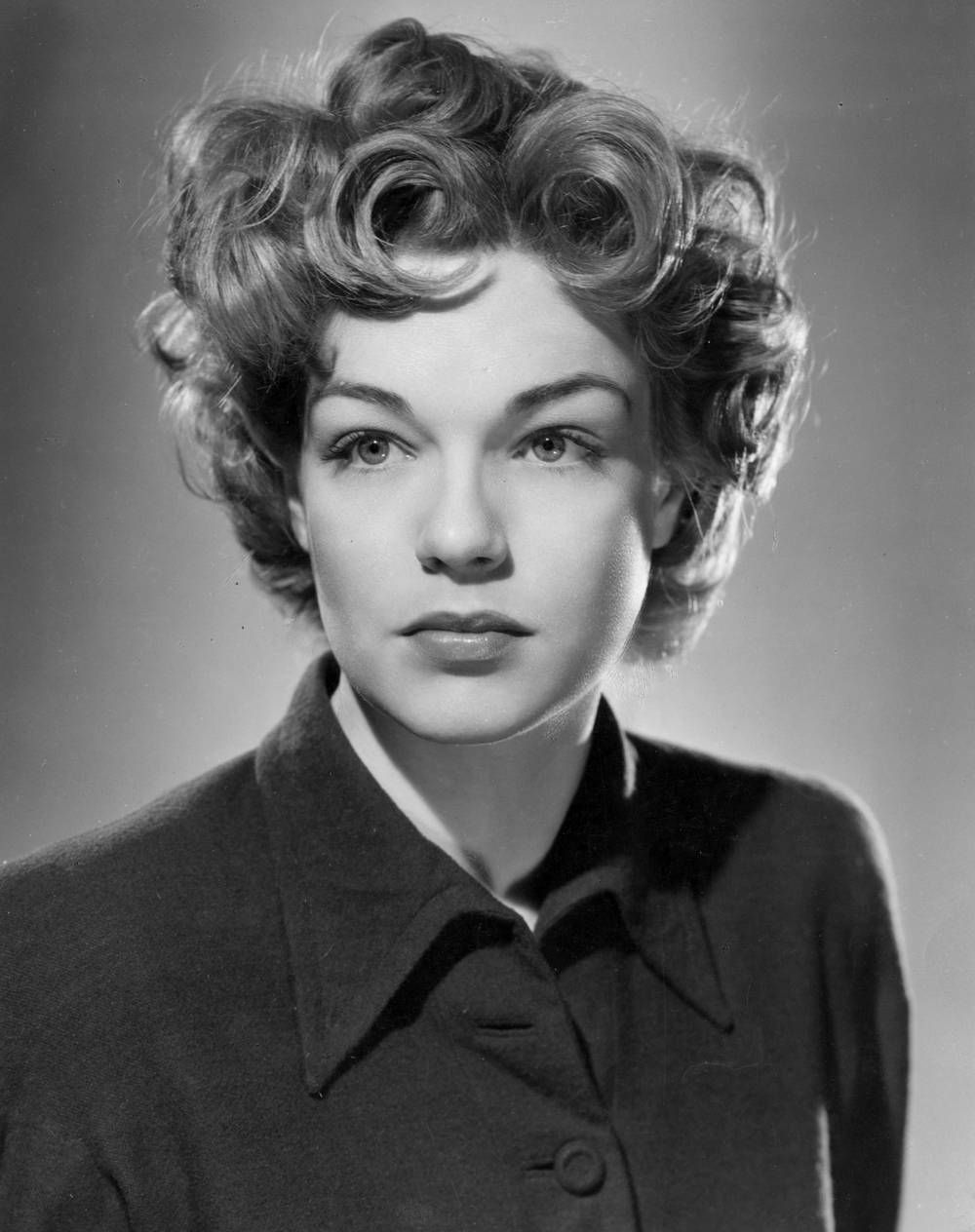 Simone Signoret (1921-1985) French actress often hailed as one of ...