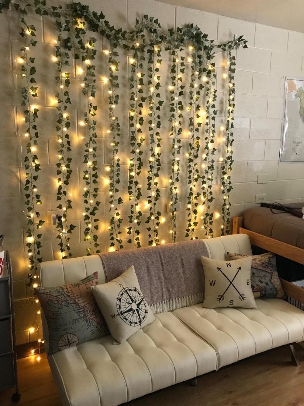 Led Wall Vine Lights In 2020 Dorm Room Decor Aesthetic Room Decor Aesthetic Rooms