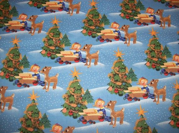 A Wonderful Rudolph the Red Nosed Reindeer by CountryCharmFabrics, $15.95