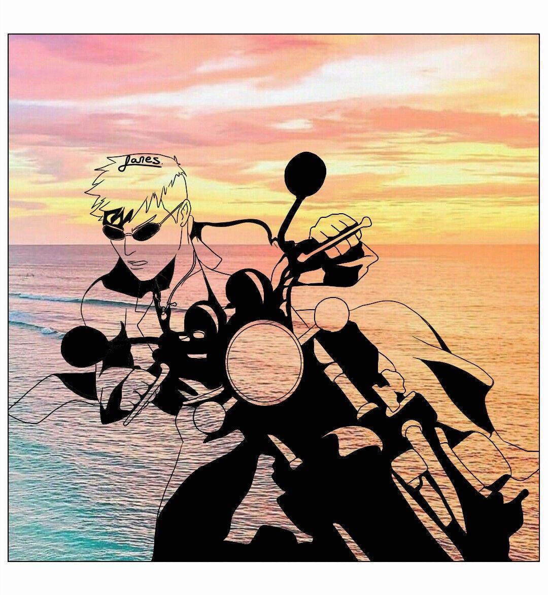 Eikichi Onizuka Bike Gto anime iphone wallpaper