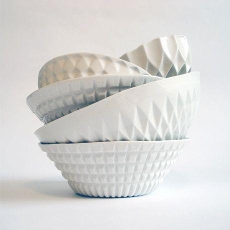 Verena Stella Geometric Porcelain Bowls Home Serving