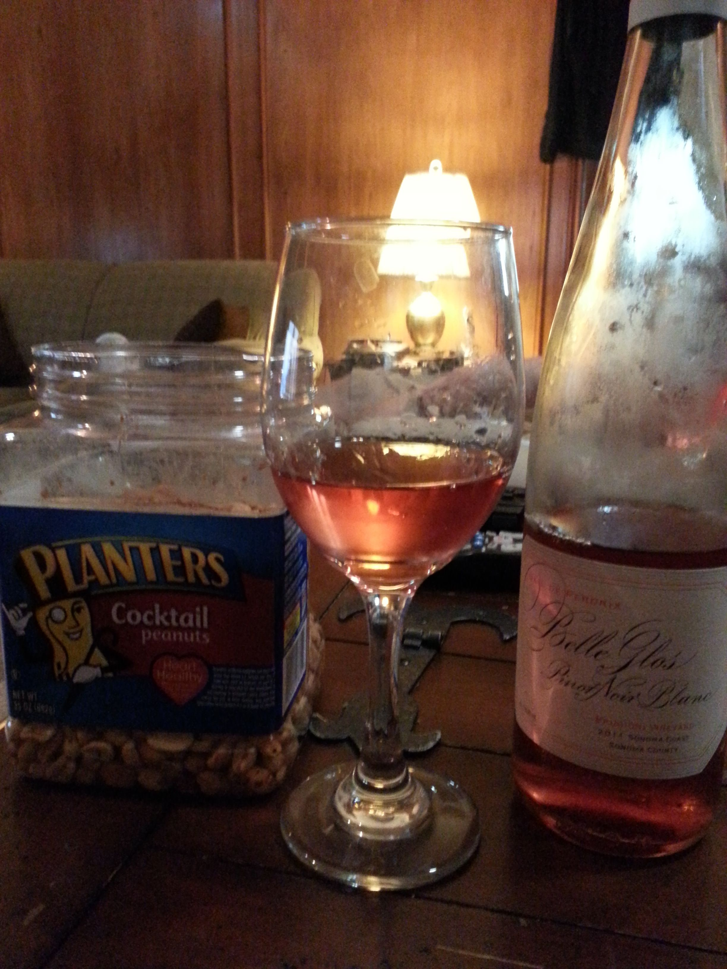 Your favorite Rose' with salted peanuts. Now that's a great pairing!