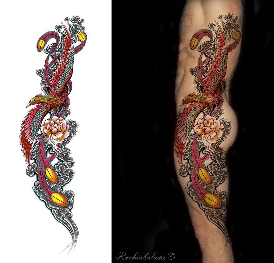 Japanese Phoenix Phoenix Tattoo Phoenix Back Tattoo Traditional Japanese Tattoo Sleeve