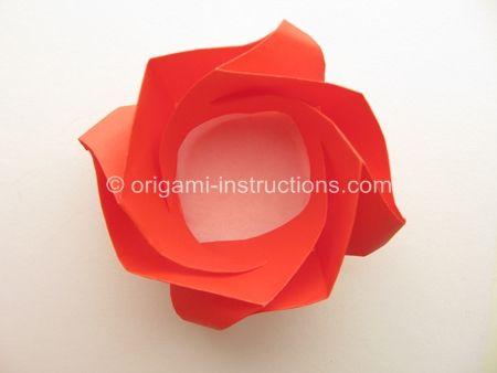 Photo of Origami Rose Bowl Folding Instructions