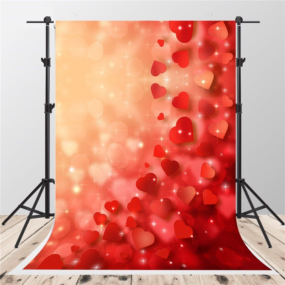 10x12 FT Backdrop Photographers,Red Heart Icon with Stains Splashes Dumbbell Grunge Artistic Love Valentines Background for Kid Baby Boy Girl Artistic Portrait Photo Shoot Studio Props Video Drape