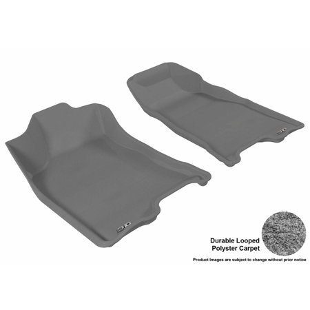 3d Maxpider 2004 2012 Chevrolet Colorado Crew Cab Front Row All Weather Floor Liners In Gray Carpet Chevrolet Colorado Classic Tan Floor Mats