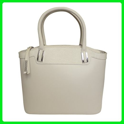 72aa18551d Nicoli 'Eleganza' Designer Italian Leather Tote Bag Grab Handbag Wedding Bag  - Cream - Totes (*Amazon Partner-Link)