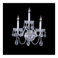Crystorama Traditional Crystal 3 Light Wall Sconce in Polished Chrome 1033-CH-CL-SAQ