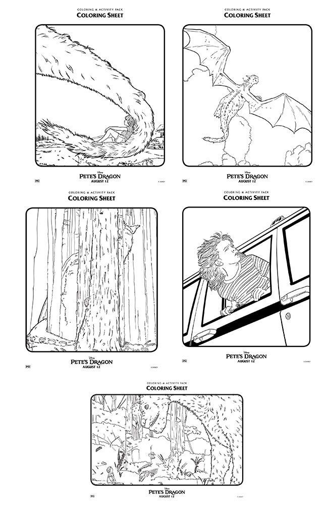 Pete\'s Dragon Colouring Pages | Colouring Stuff | Pinterest ...
