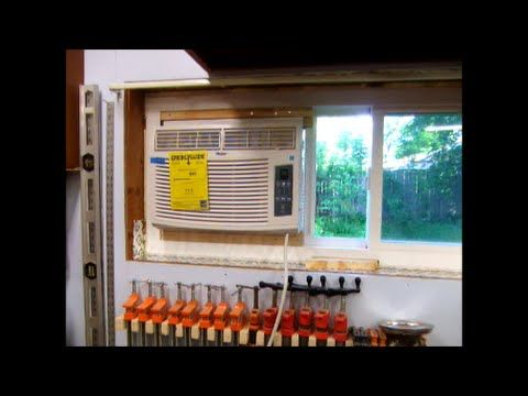 Install Window Air Conditioning Ac In Horzontal Slider Window