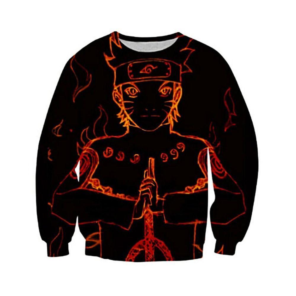 Naruto Outline Of A Hero Sweatshirt Roupas Naruto Moletons Legais Moletons [ 1000 x 1000 Pixel ]