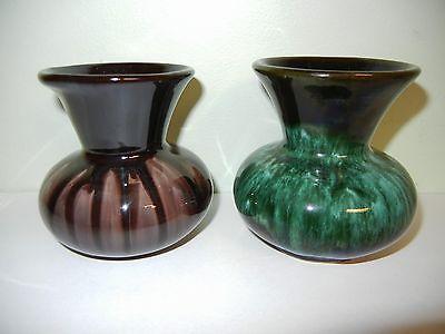 Blue Mountain Pottery - 2 Mini Squat Vases - Excellent Condition