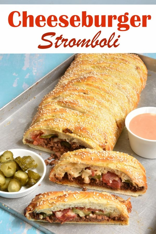 Cheeseburger Stromboli. Yummy!!