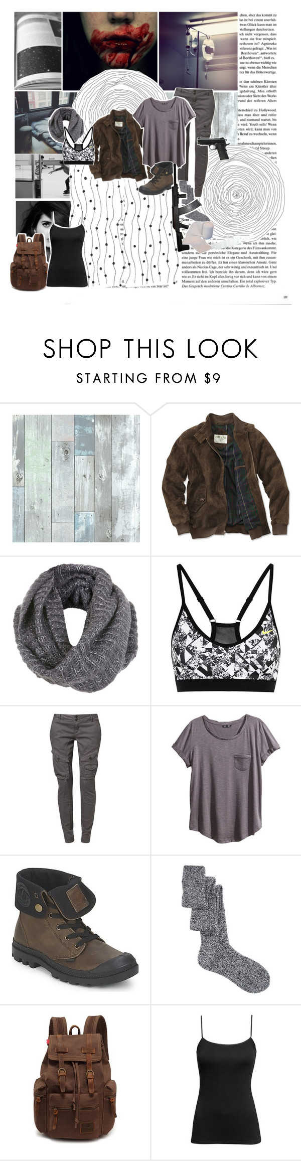 """"""""""" I have been in Quaratine once ,  I'm never going back  """" ~ Madeline"""" by jen-the-glader ❤ liked on Polyvore featuring WallPops, xO Design, Miss Selfridge, NIKE, H&M, Palladium, ASOS and BP."""