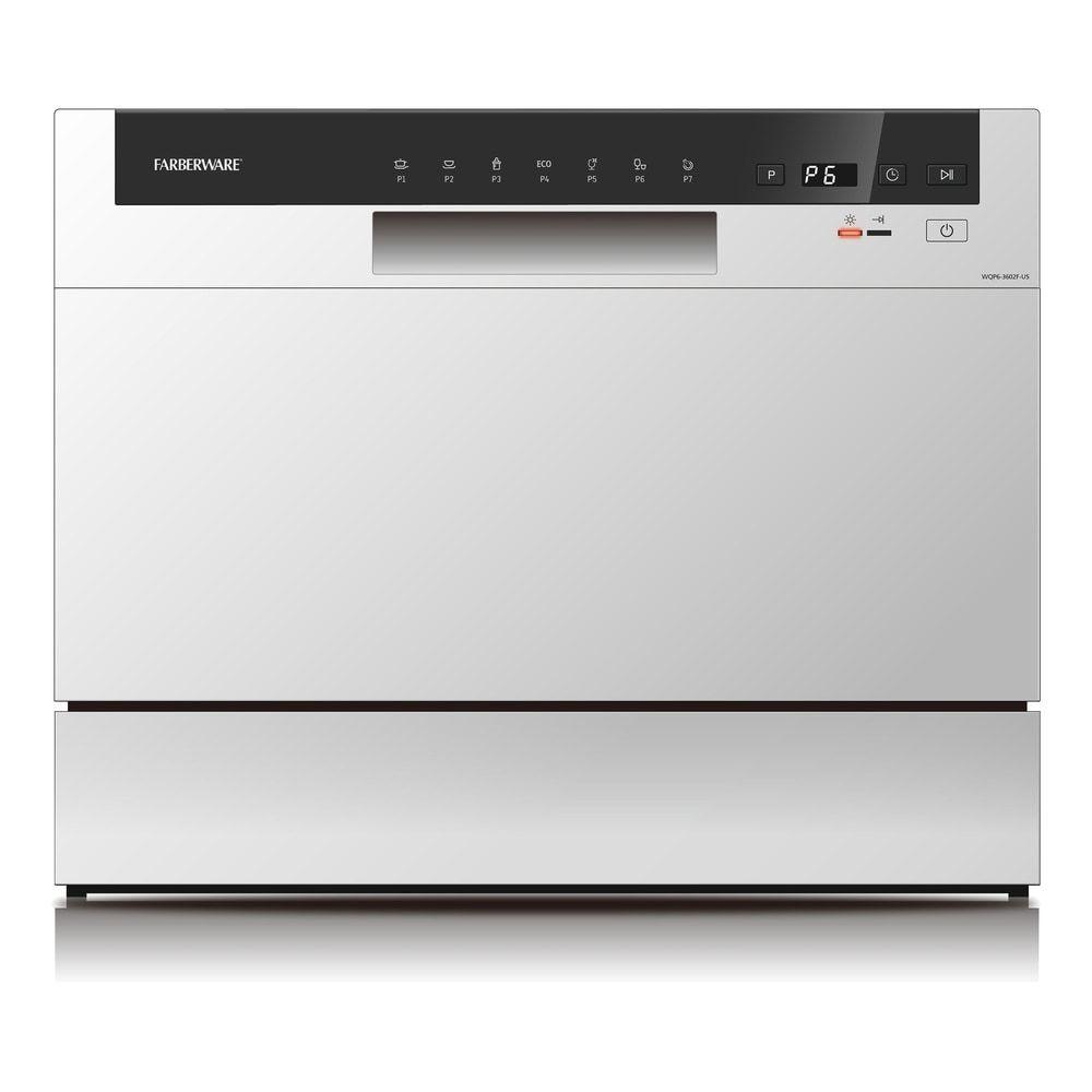 Farberware Professional 6 Piece Countertop Dishwasher White In