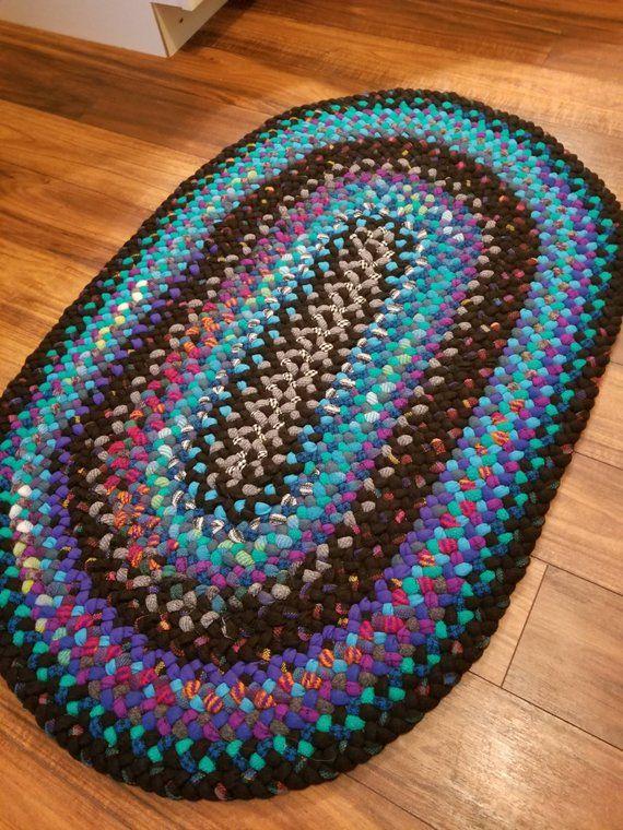 Tappeto in lana intrecciata ovale 2 x 3 Etsy Braided