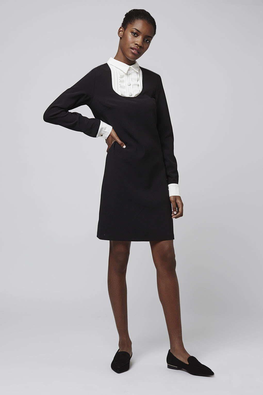 Tall Bib Front Shift Dress Dresses Clothing High Fashion Street Style Dresses Lovely Dresses [ 1530 x 1020 Pixel ]