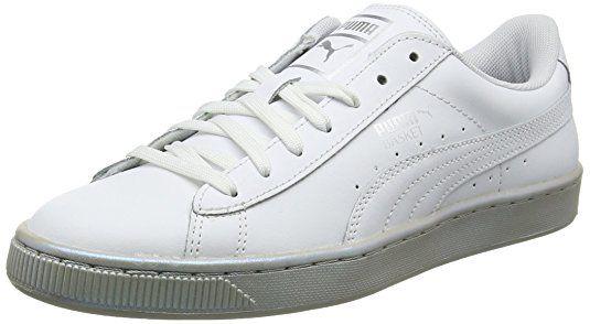 Puma Chaussures Smash V2 pour Homme, 40 EU, Silver/Silver