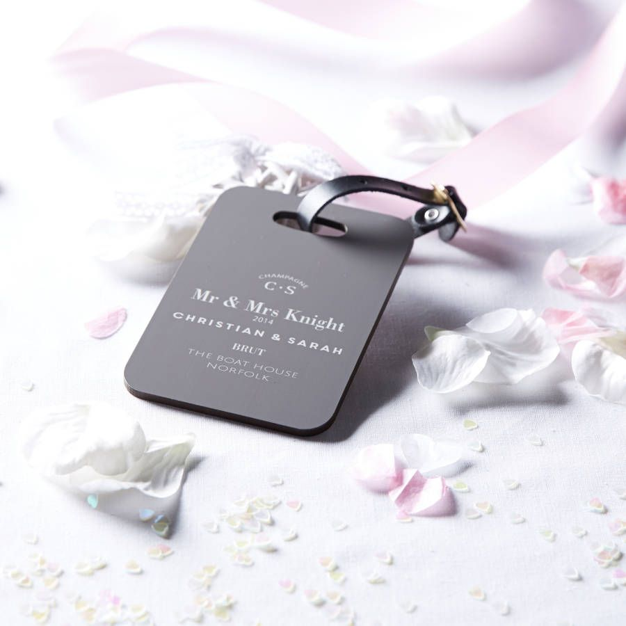 Personalised Couple / Wedding Luggage Tag | Luggage tags wedding ...