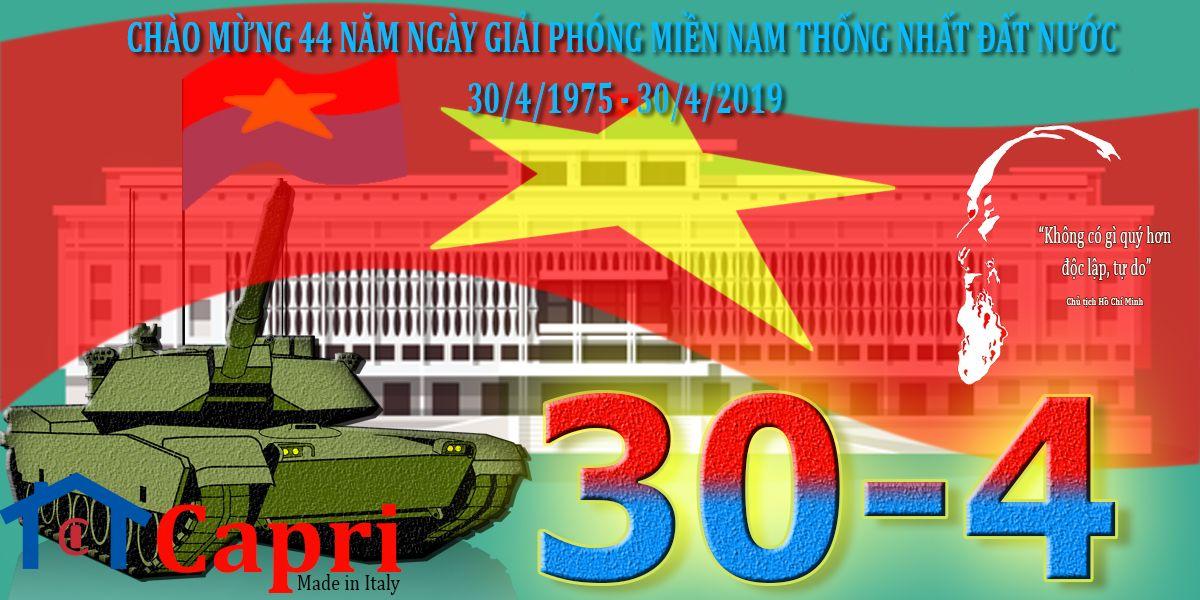 Chao Mừng 44 Năm Ngay Giải Phong Miền Nam 30 4 1975 30 4 2019 Capri Bếp Chau Au