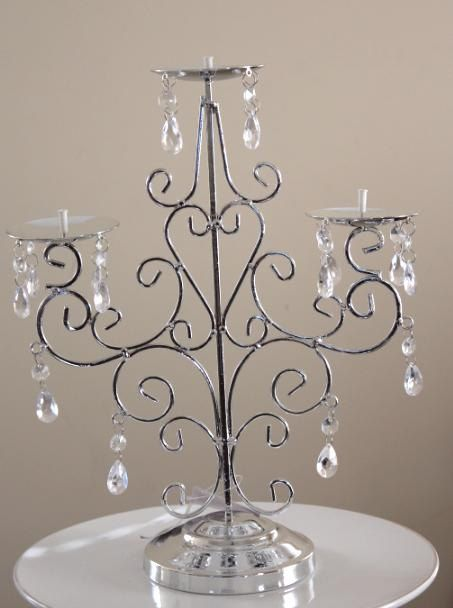 On Silver Candelabra Candle Holder By Designsbyembellish 29 00