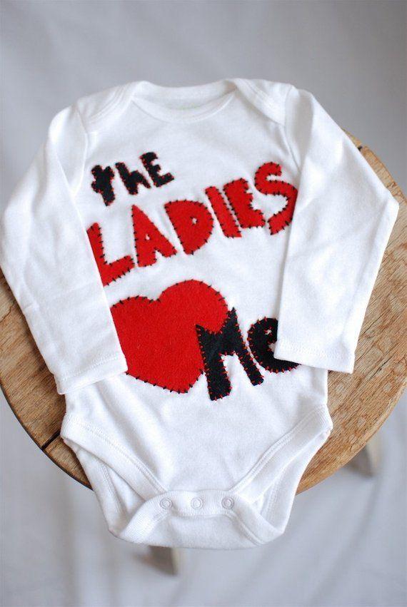 5b80b7d3f Valentines day shirt, Ladies love me bodysuit long sleeve, valentines day,  baby boy clothing 0-3 mon