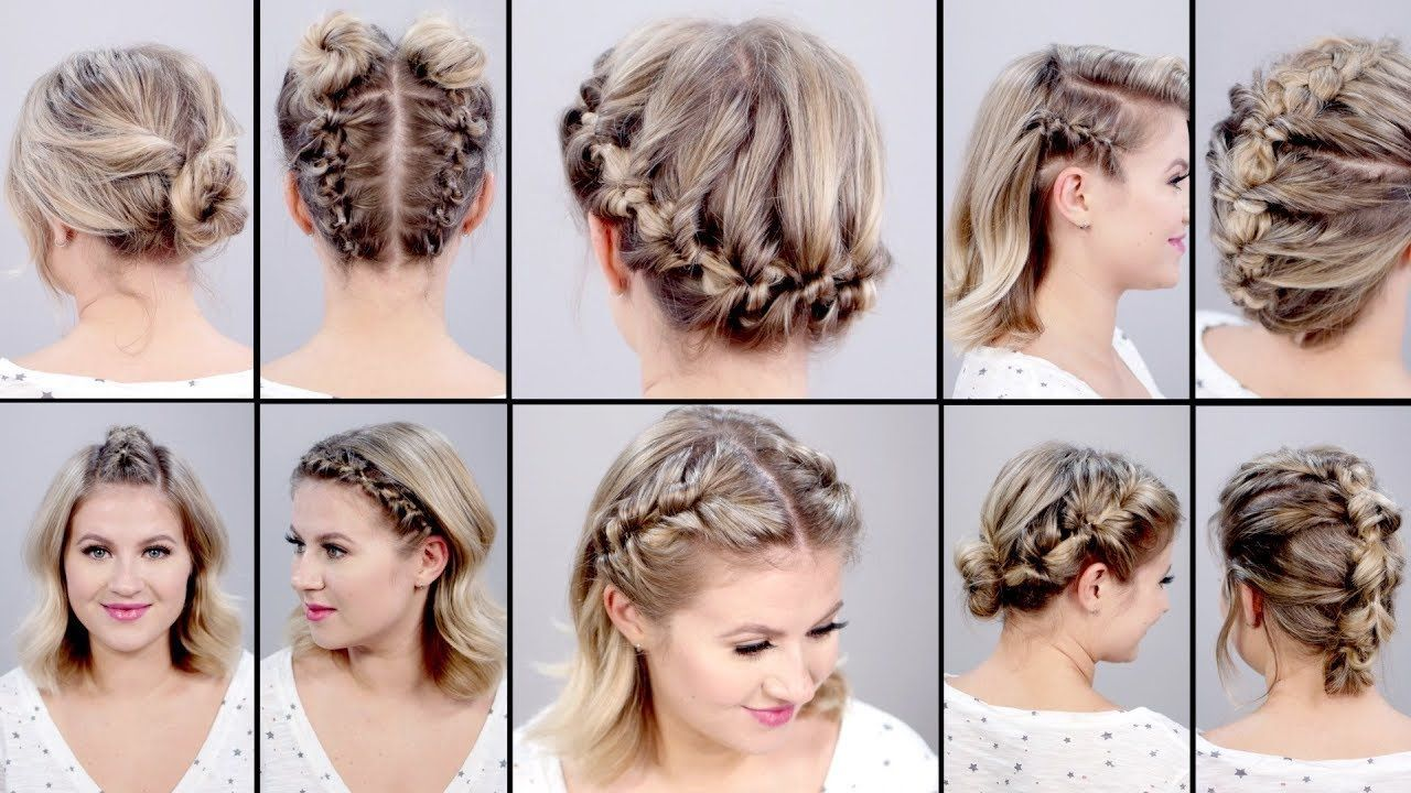 Hairstyles For Short Hair Easy Braids Topsy Tail Hairstyles Short Hair Tutorial Braids For Short Hair