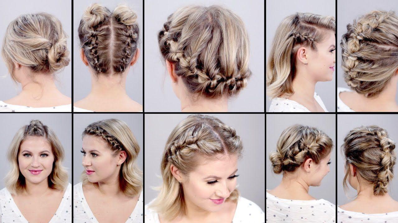 Hairstyles For Short Hair Easy Braids Topsy Tail Hairstyles Short Hair Tutorial Braids For Short Hair