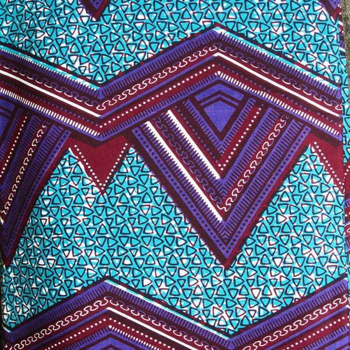 African Wax Print Cloth from ATL GHANA | Blue | African textiles