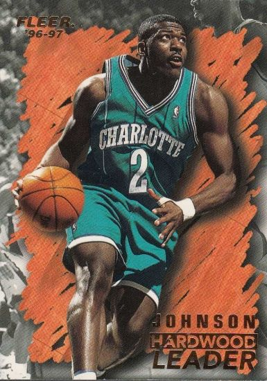 1996 97 Fleer Hardwood Leader Larry Johnson Basketball Card