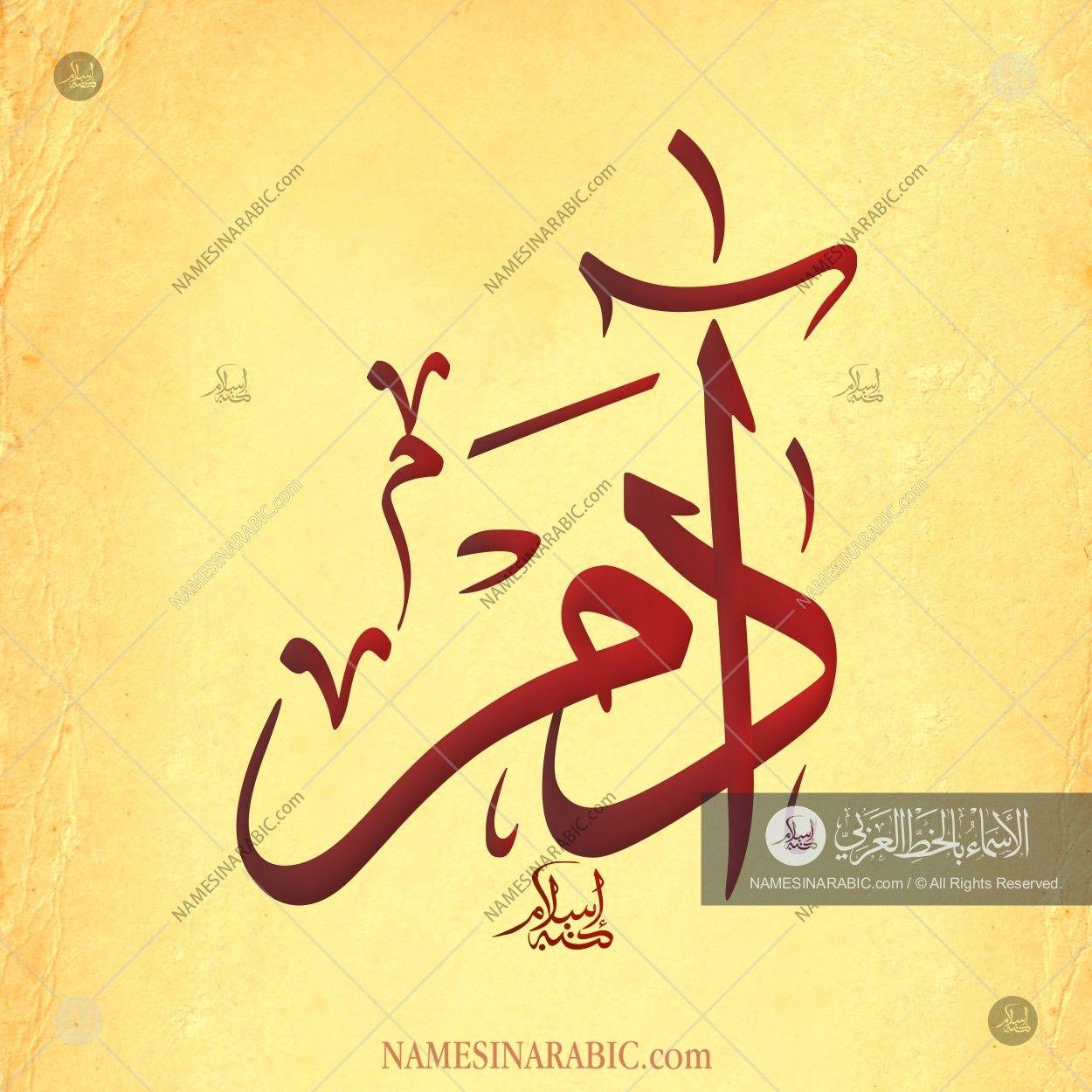 Adam Name In Arabic Calligraphy Arabic Calligraphy Art Calligraphy Calligraphy Art
