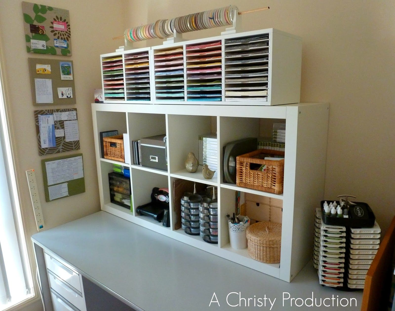 Very Organised Craft Room With Lots Of Ikea Storage Boxes Description From Pinterest Com I Sear Organized Craft Desk Room Storage Diy Craft Room Organisation
