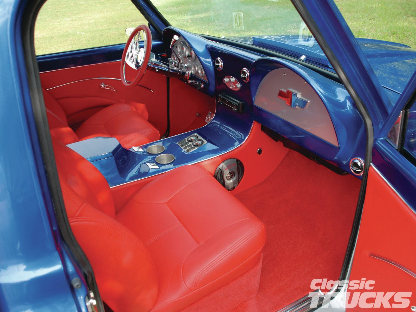 67 Chevy Custom C10 Interior Red Corvette Dash 67 72