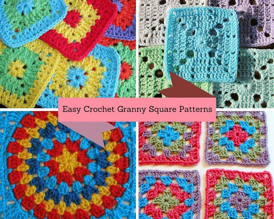 46 Easy Crochet Granny Square Patterns Easy Crochet Crochet