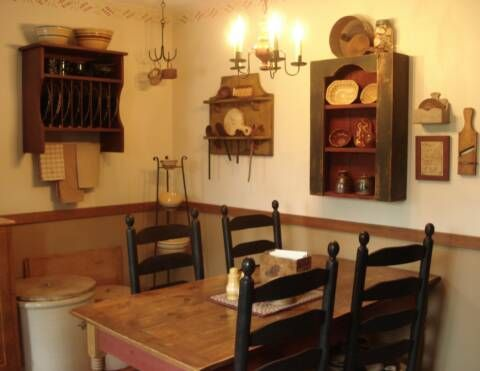 a primitive place primitive colonial inspired kitchens - Primitive Kitchen Tables