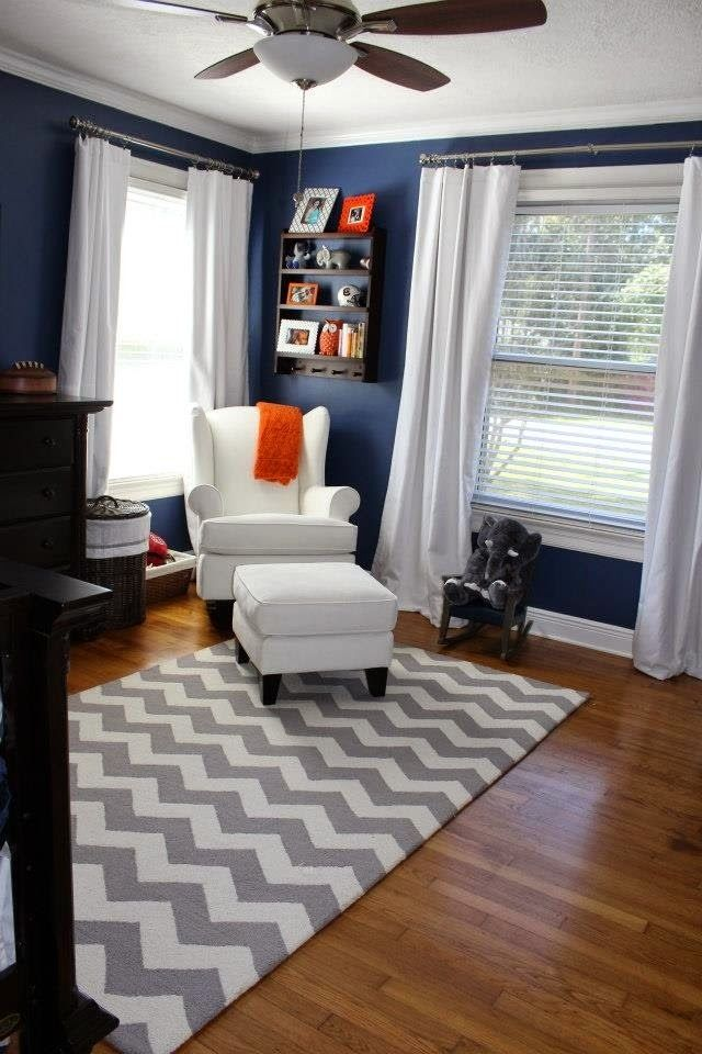 Best Boy S Room Dark Blue White Gray Orange With Images 400 x 300