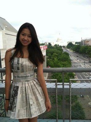 Northern Va. teen wears homemade newspaper dress to the Newseum - The Style Blog - The Washington Post