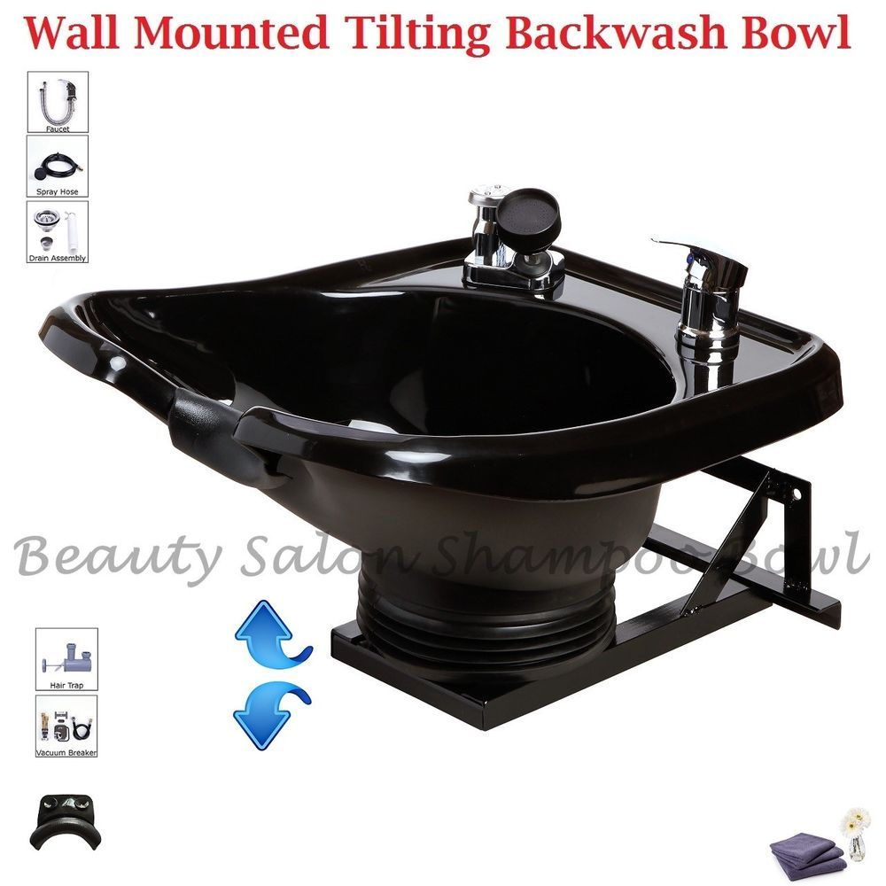 Shampoo Bowl Sink with a Tilt Mechanism Salon Spa Equipment TLC-B13 ...