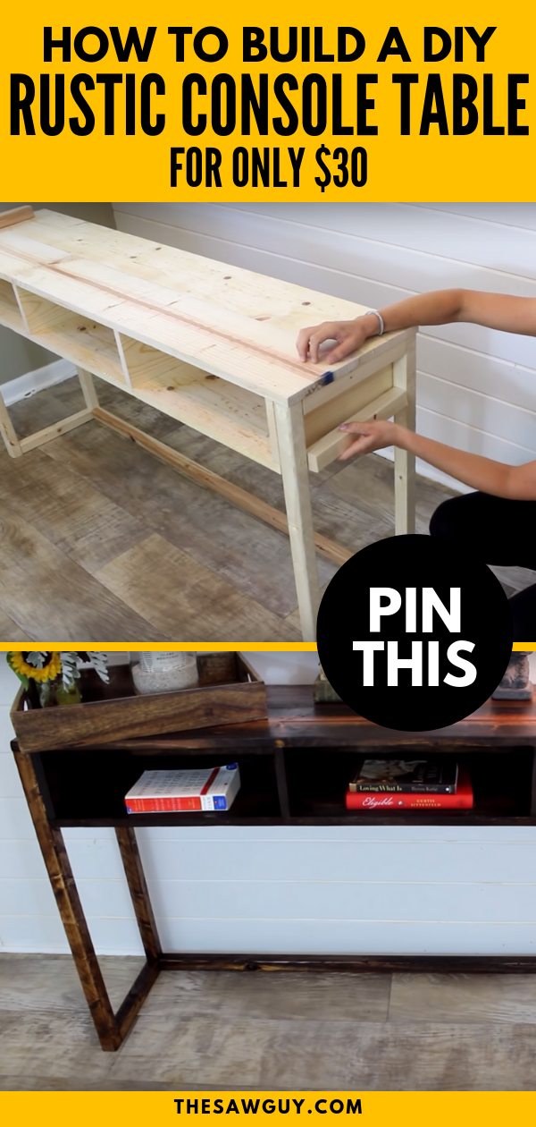 Photo of How to Build a Rustic DIY Console Table for $30