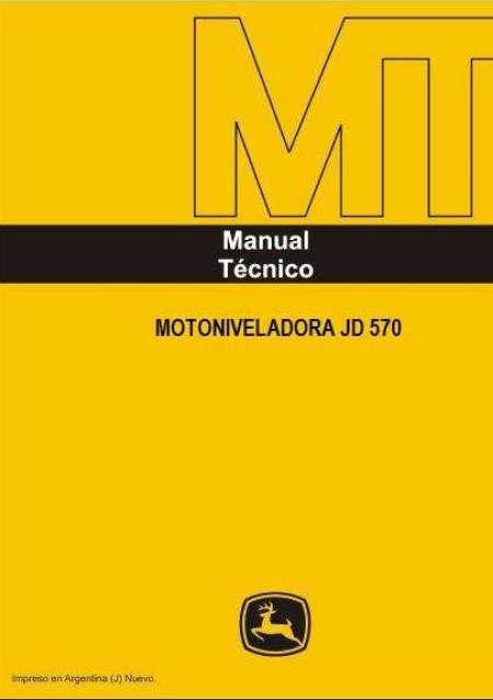 Manual de taller motoniveladora jd570