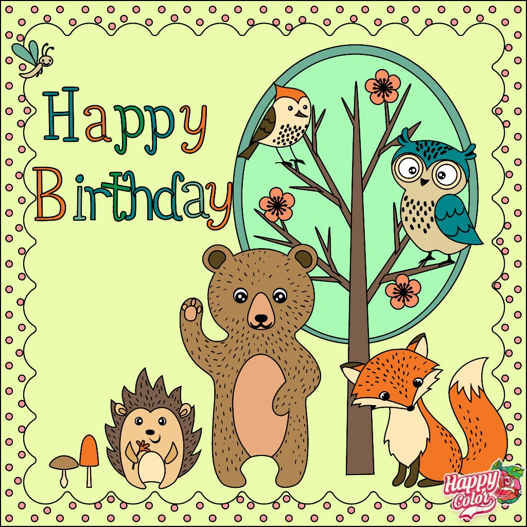Happy Birthday Happy Colors Coloring Books Coloring Apps