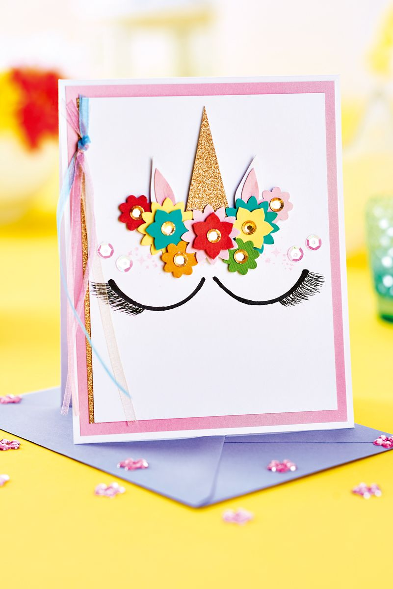 Astounding Free Unicorn Card Project Con Imagenes Tarjetas Making Ideas Funny Birthday Cards Online Eattedamsfinfo