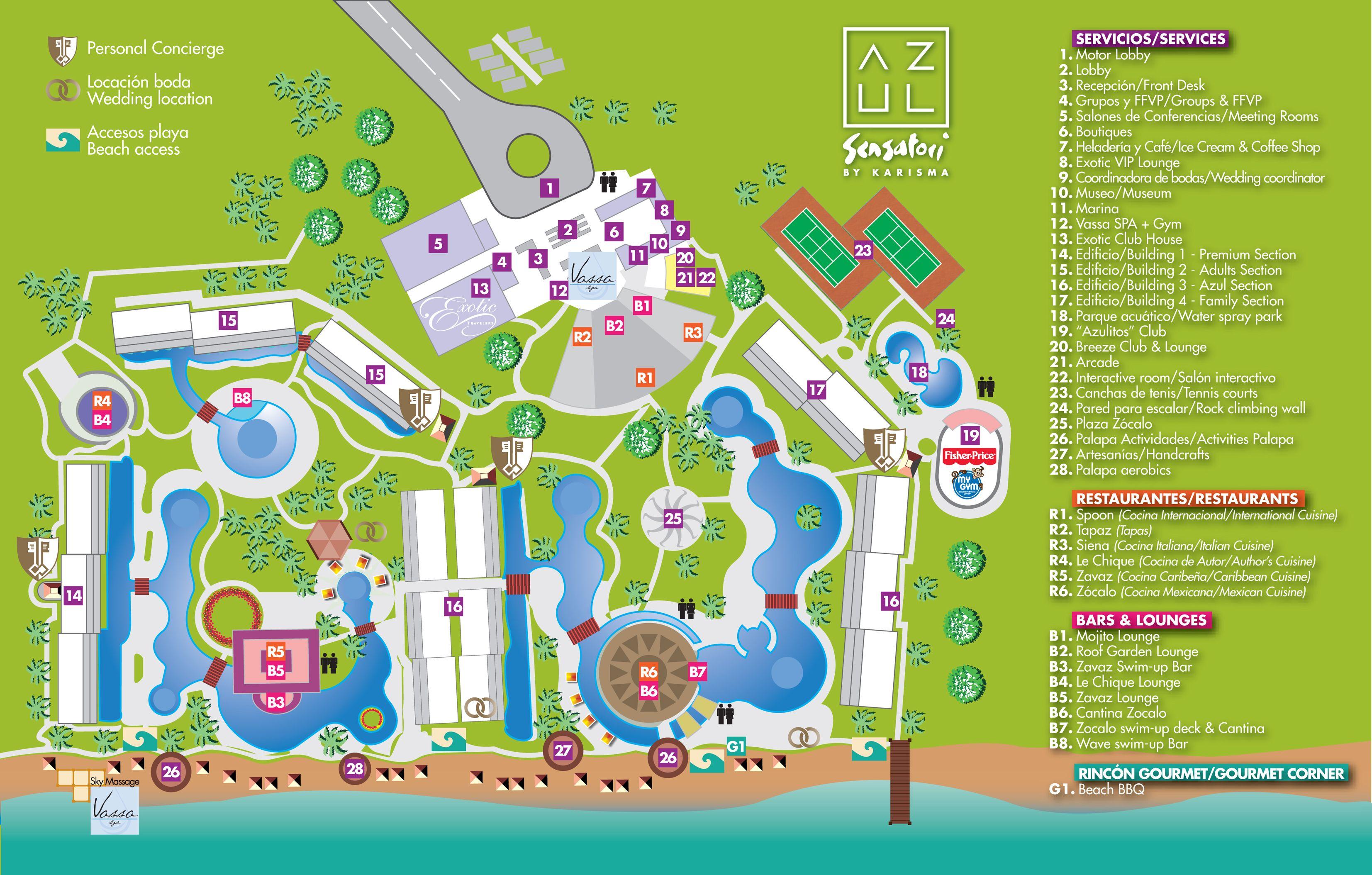 Azul Sensatori Resort Map Vacations Azul Sensatori