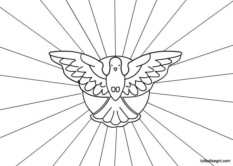 Simbolo dello spirito santo stampa verdure pinterest for Immagini sacre da colorare