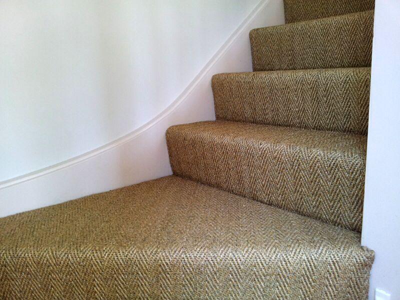 Best Herringbone Sisal On Stairs Carpet Cleaning Hacks How 400 x 300