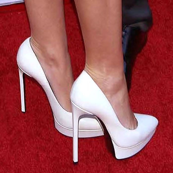 Saint Laurent Heels White