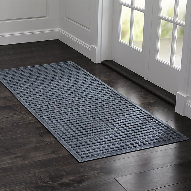Shop Thirsty Dots Slate 30 X71 Doormat This Absorbent Thirsty