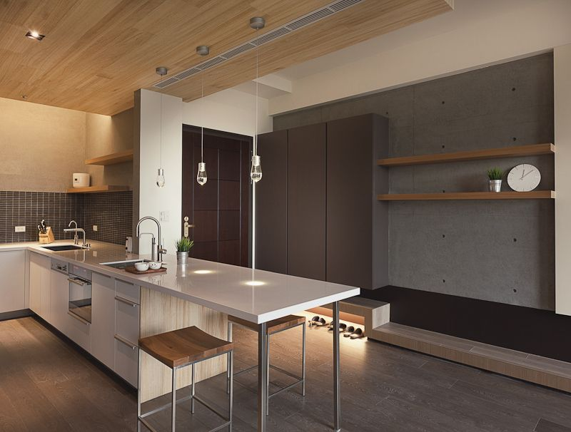 Der xin house modern minimalist home design by for Kitchen cabinets 08080