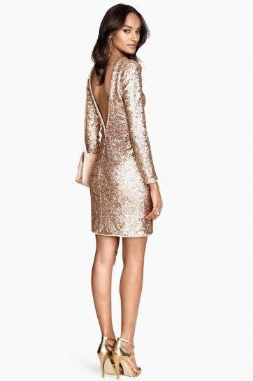 9b8a6de7a vestido dorado de lentejuelas - Buscar con Google
